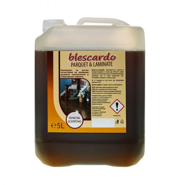 Препарат за Почистване на Ламиниран Паркет и Лакирани Дървени Повърхности Blescardo Parquet & Laminate, 5L