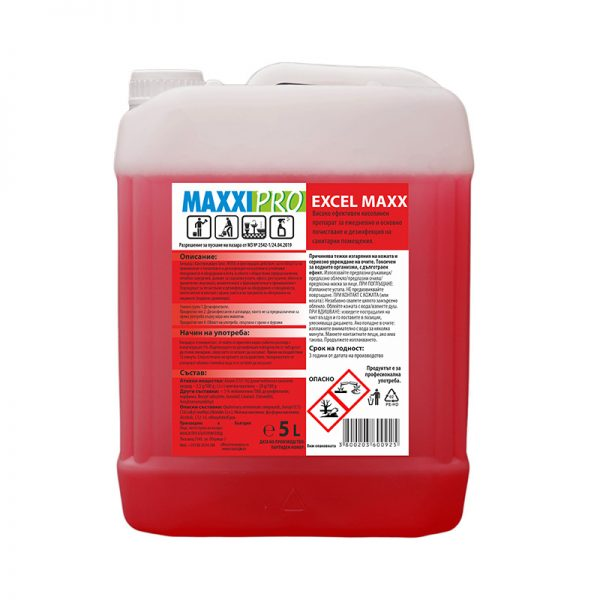 Дизенфектант за Санитарни Помещения Excel Max, 5L