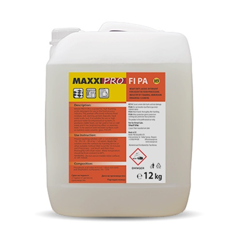 Препарат за Почистване на Тежки Замърсявания от Киселинно Устойчиви Повърхности FI-PA. 12kg
