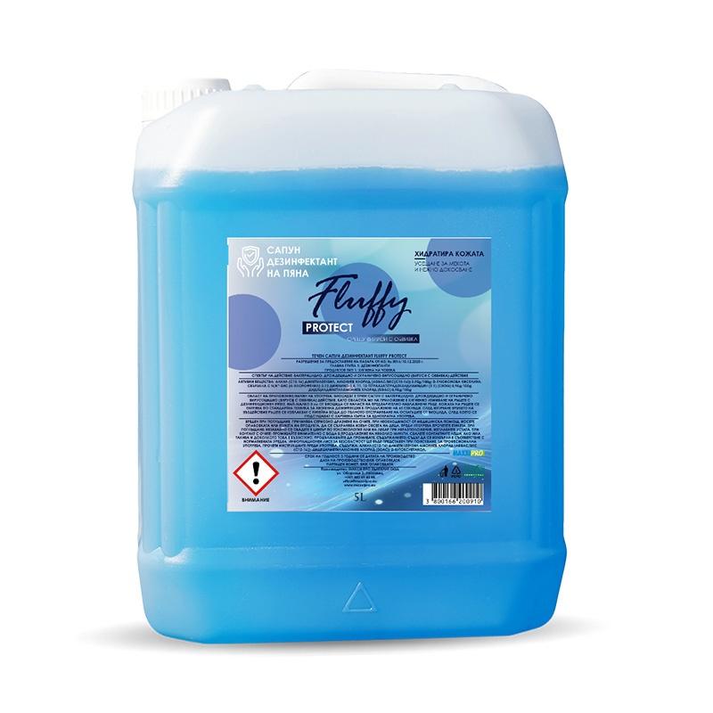 Течен Сапун за Миене и Дезинфекция Ръце на Пяна Fluffy Protect, 500ml