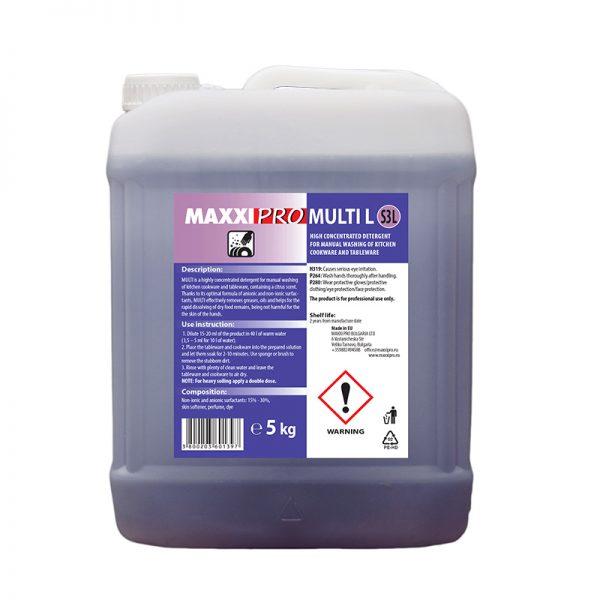 Препарат за Ръчно Миене на Съдове и Посуда Multi-L, 5L