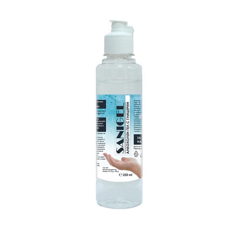 Алкохолен Дезинфектант (биоцид) за Ръце Sanigel, 250ml гел