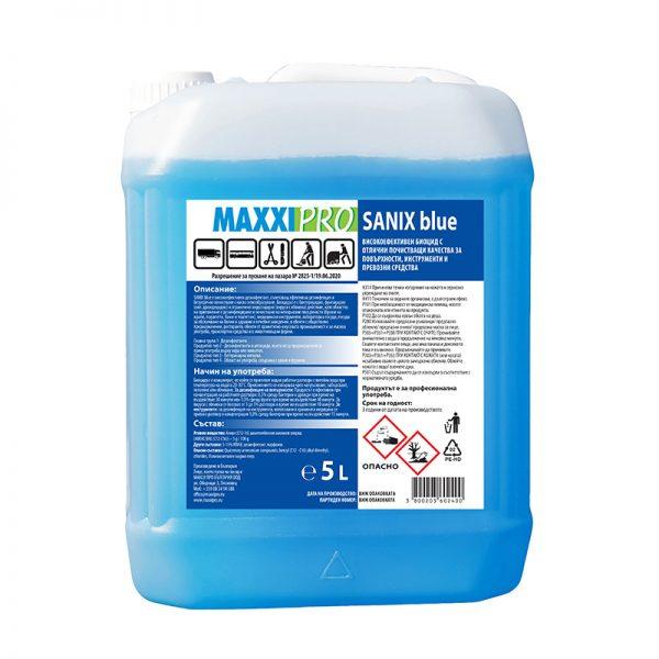 Дезинфектант (Биоцид) за Повърхности Sanix Blue, 5L
