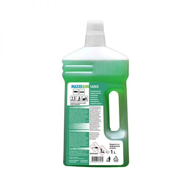 Дезинфектант (Биоцид) за Повърхности Sanix Green, 1L