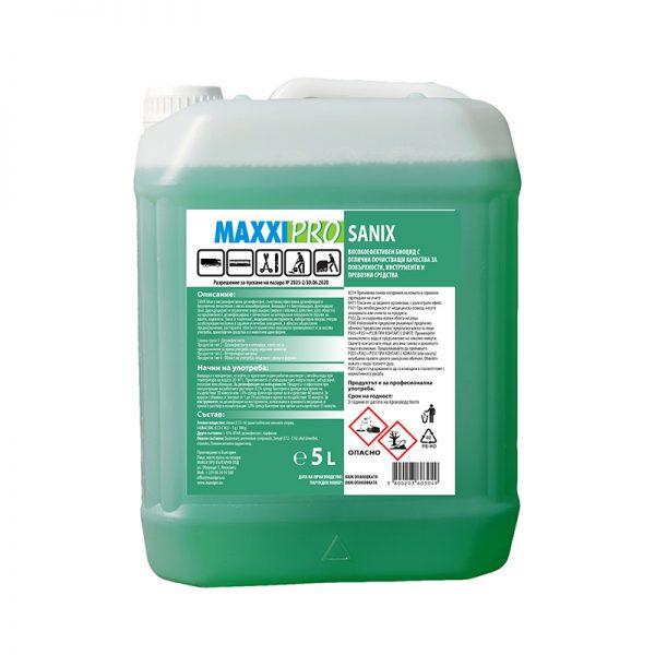 Дезинфектант (Биоцид) за Повърхности Sanix Green, 5L