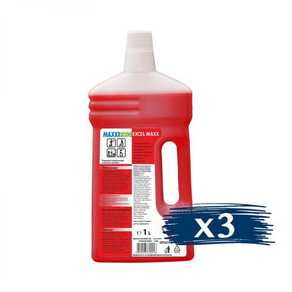 Почистващ Препарат за Санитарни Помещения Excel Max, 3x1L Концентрат