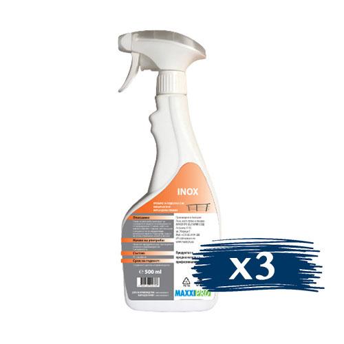 Препарат за Полиране на Повърхности от Неръждаема Стомана INOX, 3x750ml