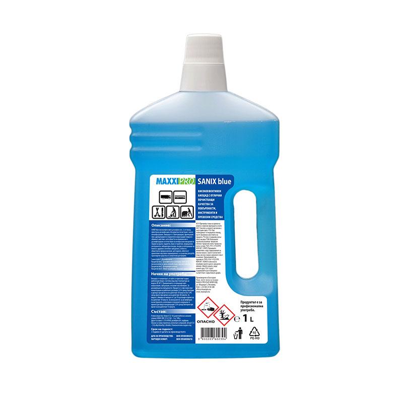 Дезинфектант (Биоцид) за Повърхности Sanix Blue, 1L
