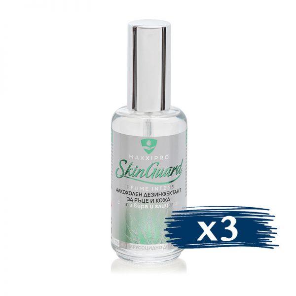 Алкохолен Дезинфектант (Биоцид) за Ръце и Кожа Skin Guard Intense, 3x60ml