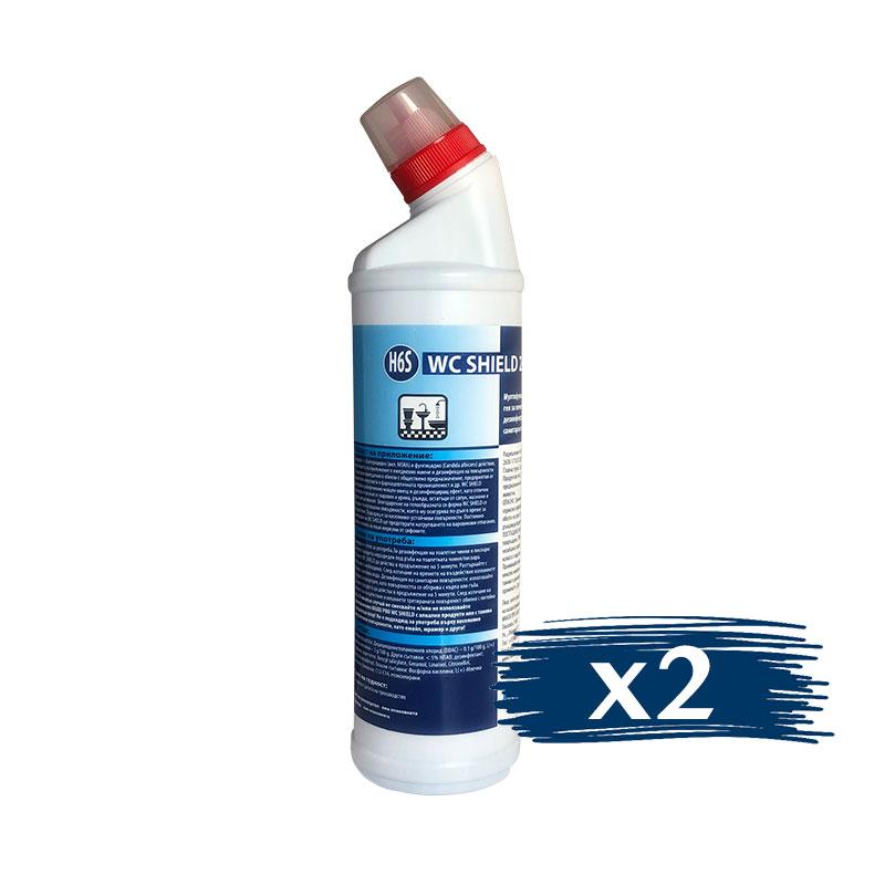 Почистващ Гел за Санитария и Фаянс WC SHIELD, 3x750ml